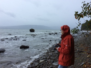 At Ballancing Rock looking toward Skidegate