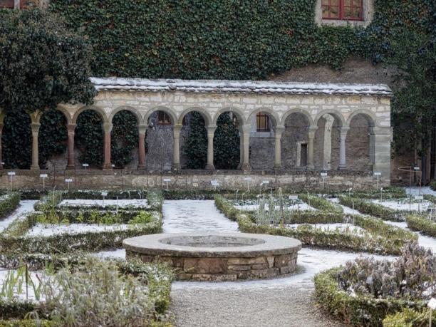 The cloister'smedicinal garden.