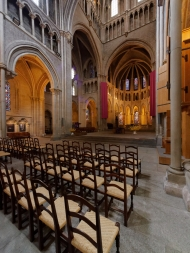 Nave and intercept of Lausanne cathedral