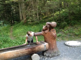 Hurrying back to Flims-Waldhaus some emptied the taps.