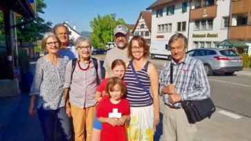 Canucks & Swiss hosts at Oberlunkhofen Postauto Station